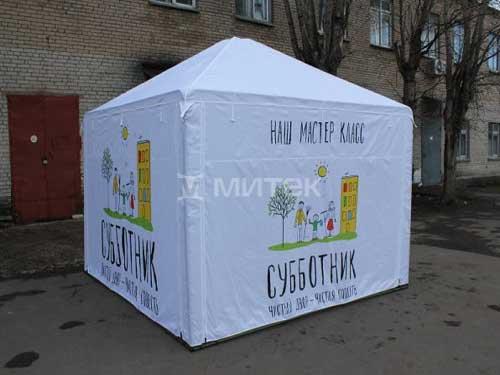 Торговая палатка как агитационный куб