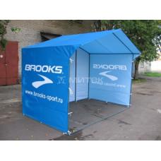 Палатка торговая в фирменном стиле компании Brooks