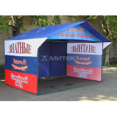 Торговая палатка 4х3 для организации промо-акции компании Экстра-М