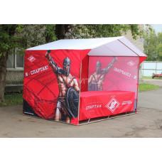 Палатка для продажи атрибутики ФК Спартак