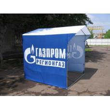 Палатка с товарным знаком Газпром