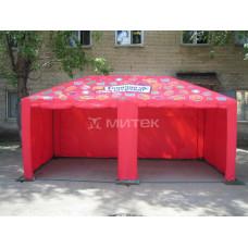 Стилизованный фирменный шатер Горячая штучка