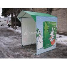 Палатка в фирменном стиле Мегафон