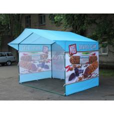 Палатка в фирменном стиле Много мяса