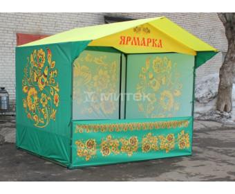 Палатка торговая Домик 2,5х2 м Хохлома