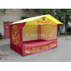 Палатка торговая Домик, 3х2 м, Хохлома