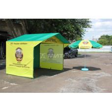 Палатка для продвижения компании Чешская пивоварня