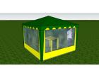 Стенка с окном 2,5х2,0 (к беседке 2,5х2,5 и 5,0х2,5)