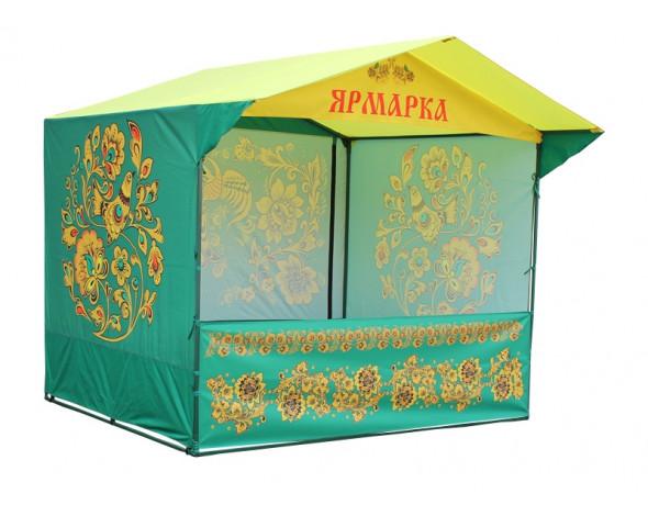 Торговая палатка с логотипом, «Домик» 2,5 x 2 из квадратной трубы 20х20 мм