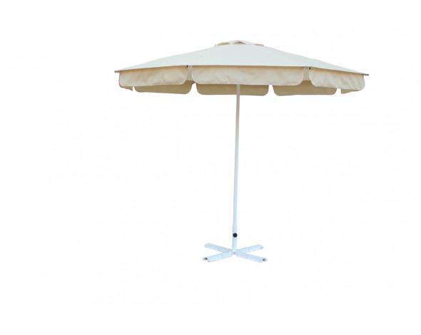 Зонт Ø 2.5м.(8) Ст с пр. воланом